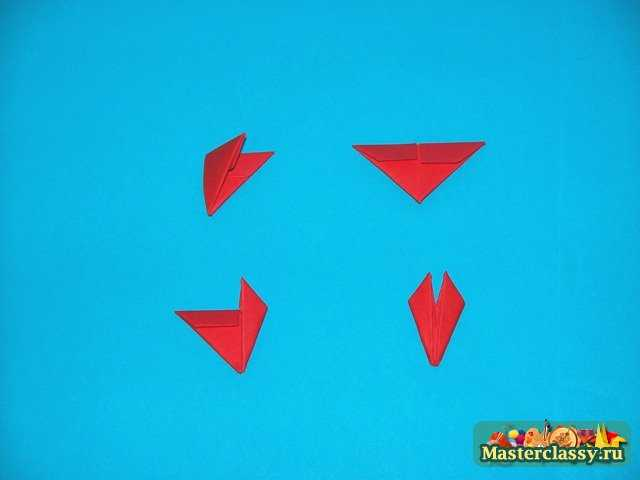 Цыпленок клюв модульное оригами