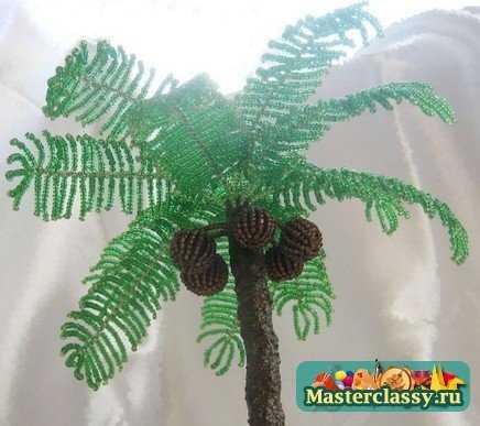 Поделки из бисера - деревья. Пальма