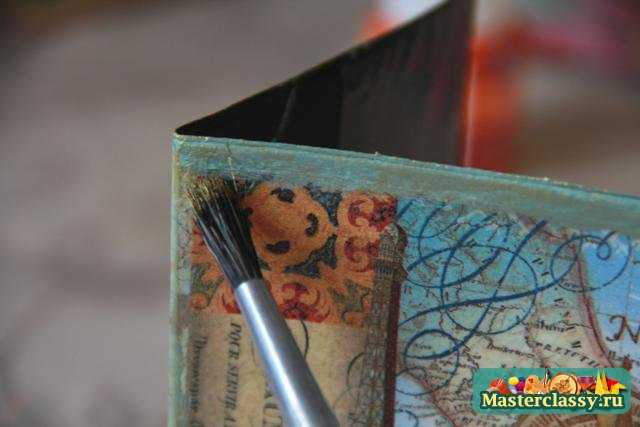 Декупаж обложки для паспорта Хочу в Париж. Мастер класс с пошаговыми фото