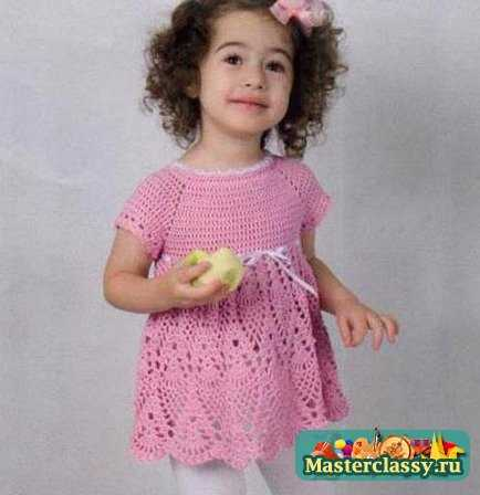 Вязание для малышей девочек до года сарафан комплект
