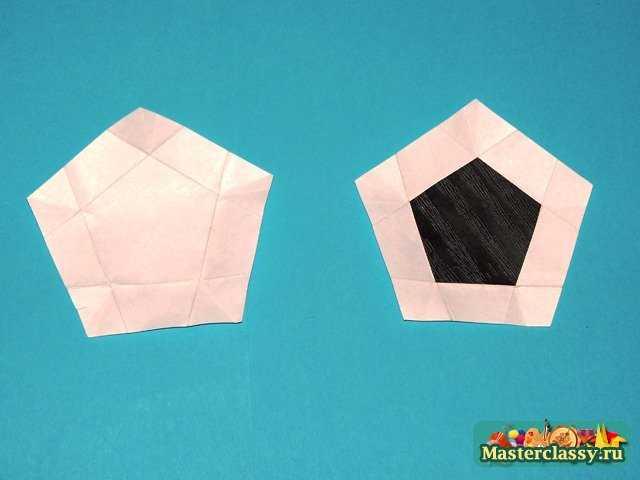Кусудама Пятиугольный модуль для Футбольного мяча