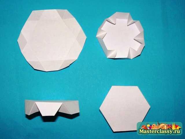 Кусудама Шестиугольный модуль для Футбольного мяча