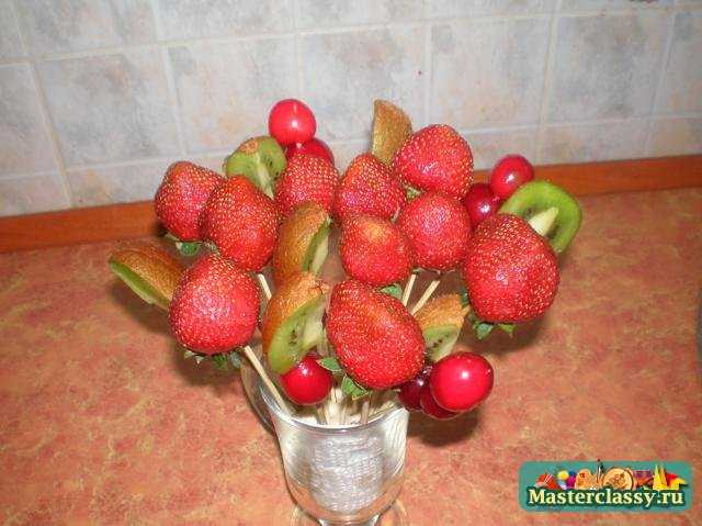 Букет из фруктов Мастер класс с пошаговыми фото