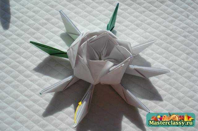 Оригами цветы. Лотос. Мастер класс с пошаговыми фото