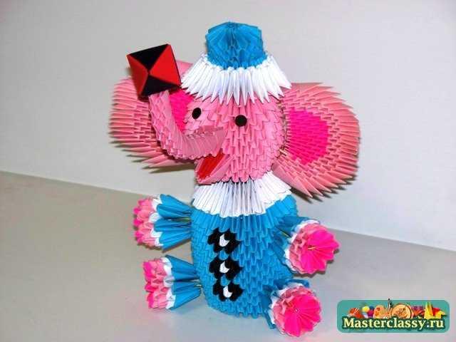 Схема сборки оригами слоник циркач схема