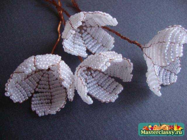 жасмин из бисера мастер класс с пошаговым фото