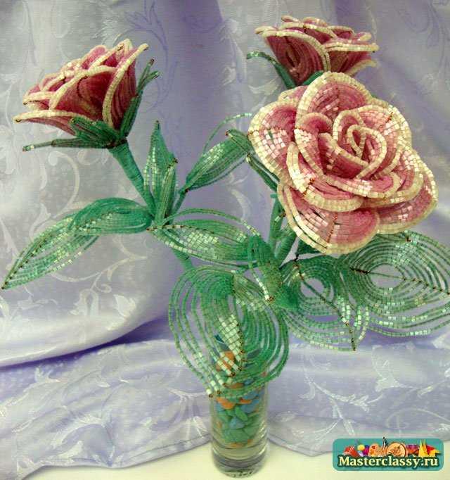 Роза из бисера. Мастер класс