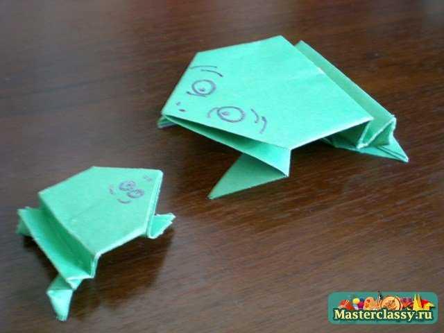 Как сделать из бумаги лягушку