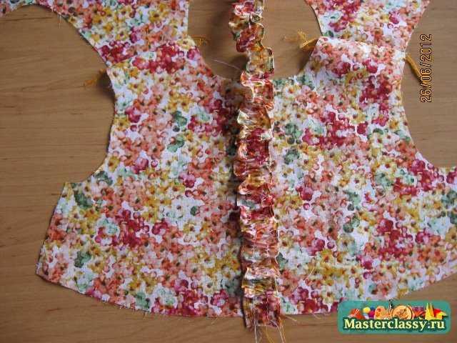 Пошаговый шитье платья