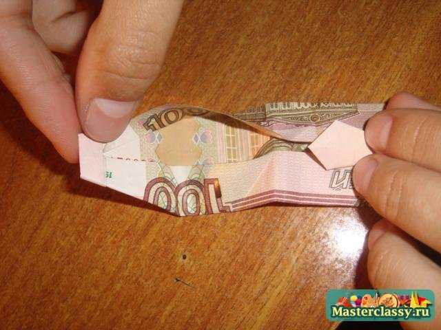 Оригами - деньги. Рубашка с галстуком. Пошаговый мастер класс с фото