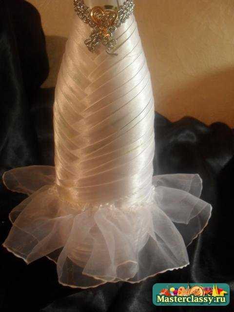 Юбка для невесты из шампанского