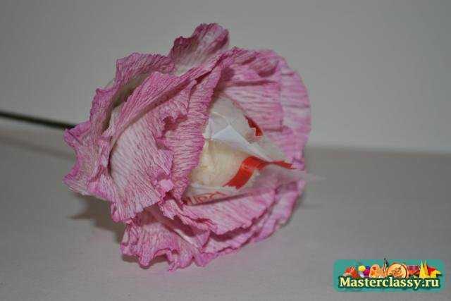 Мастер класс Букет из конфет с применением органзы с пошаговыми фото