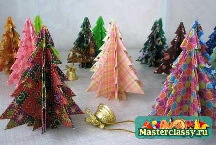 Оригами - елочка для детей