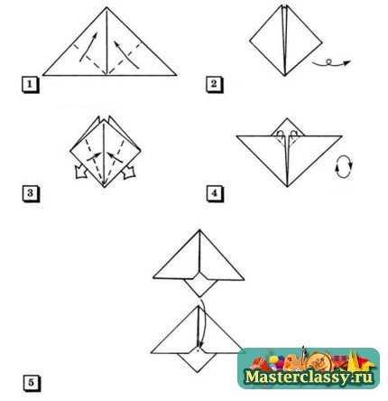 Оригами для детей. Шишка. Мастер класс