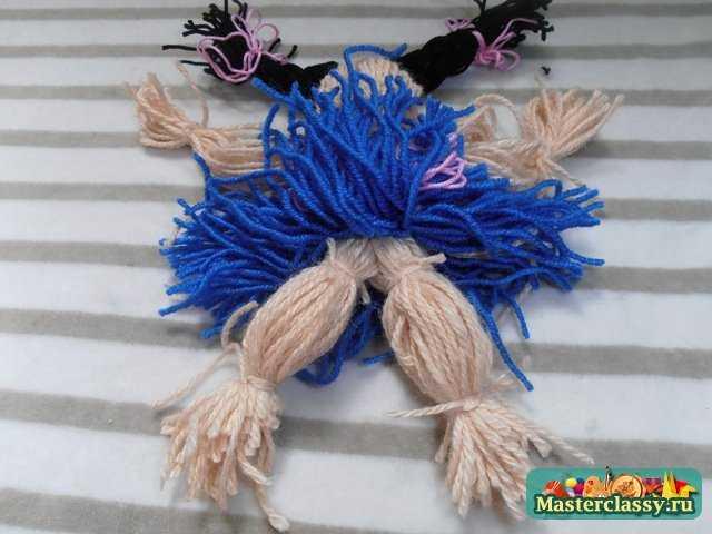 Кукла из ниток. Мастер класс с пошаговым фото