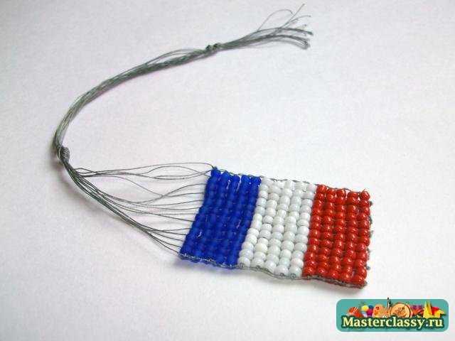 Флаги из бисера. Франция. Мастер класс с пошаговыми фото
