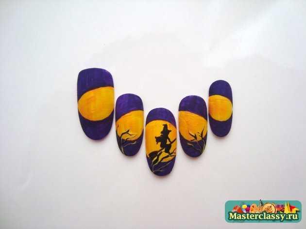 маникюр хэллоуин рисунки на ногтях