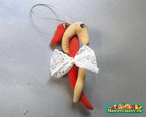 Новогодняя игрушка змея своими руками. Мастер класс с пошаговыми фото