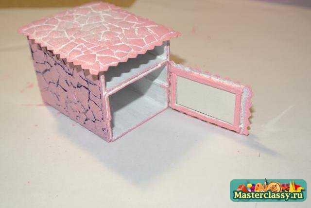 Поделки из спичечных коробков. Кукольный столик. Мастер класс