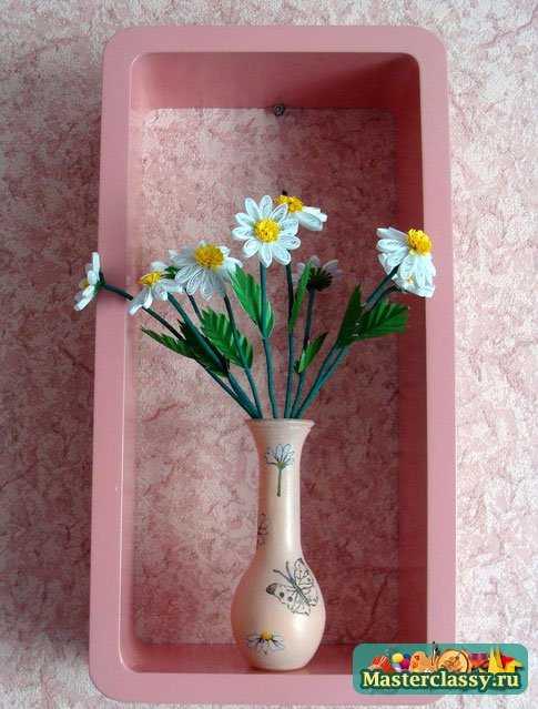 Декупаж. Ромашки в вазочке Мастер класс с пошаговым фото