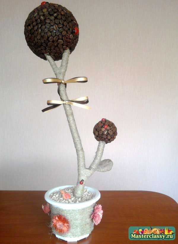Кофейное дерево своим руками. Мастер класс с пошаговыми фото