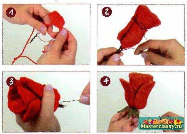 Как из пряжи сделать розу из