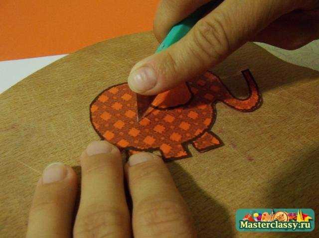 Открытка своими руками Веселый слоник. Мастер класс с пошаговыми фото
