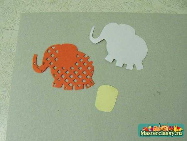 Открытка со слоном и шариками своими руками