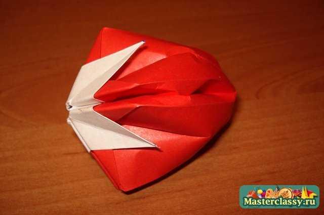 Оригами «Клубника». Мастер класс с пошаговыми фото