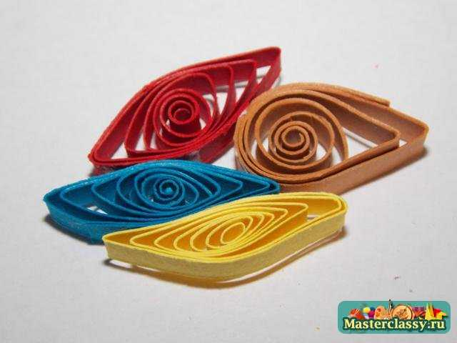 Квиллинг МК. Бабочка - магнит на холодильник