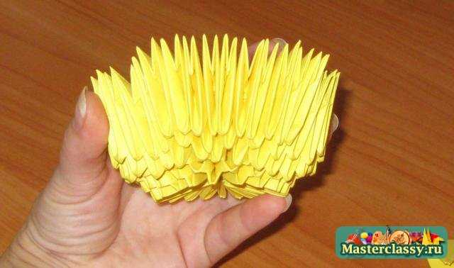 Модульное оригами. Утенок. Мастер класс с пошаговыми фото