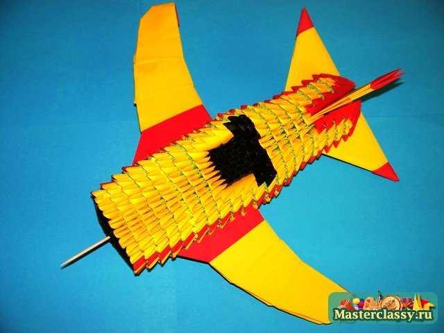 Схема оригами модульное самолёт фото 759