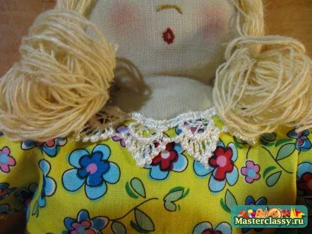 Пошив текстильной куклы. Мастер класс. Часть 2