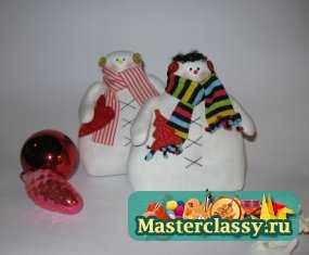 1348411058_1-082 Снеговик своими руками на Новый год из подручных материалов