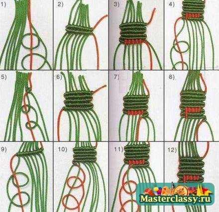Фенечки из мулине. Схемы плетения