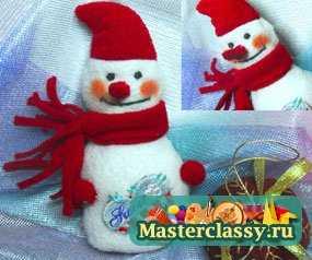 1348592791_1 Снеговик своими руками на Новый год из подручных материалов