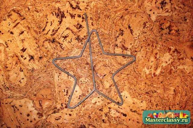 Украшения из проволоки. Новогодняя звезда. Мастер класс с пошаговыми фото.