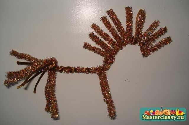 Новогодние украшения своими руками из проволоки. Конь. Мастер класс с пошаговыми фото.