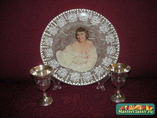 Свадебный декупаж. Тарелочка Счастливая невеста. МК с пошаговыми фото