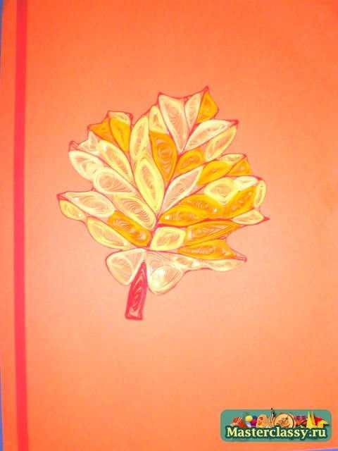 Поделки из макарон волшебный осенний листок фото пазы