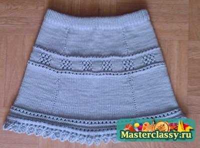 Вязание юбки для девочки спицами мастер классы