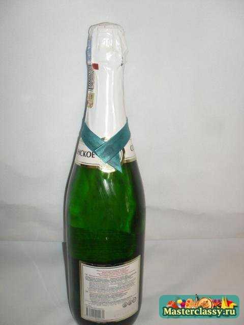 Украшение Новогодних бутылок. Снегурочка. Мастер класс с пошаговыми фото