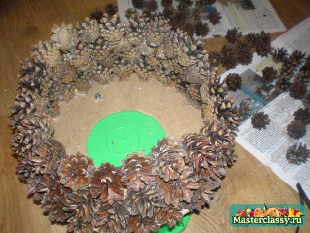 елка из шишек пошаговая инструкция сосновых