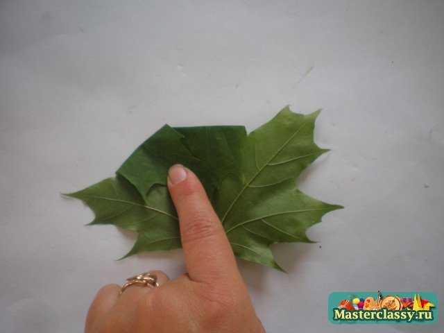Букеты из кленовых листьев. Осенний вальс. Мастер класс с пошаговыми фото