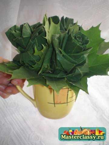 Большие розы из осенних листьев. Мастер класс с пошаговыми фото