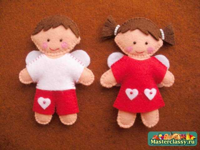 Фетровые куколки. Мастер класс с пошаговыми фото