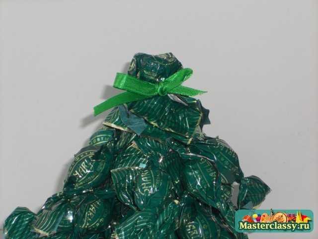 Новогодние подарки своими руками. Елочка из конфет. Мастер класс с пошаговыми фото