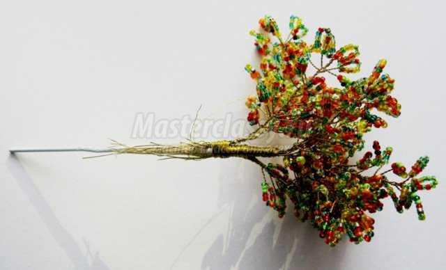 Мастер класс маленькое дерево из бисера