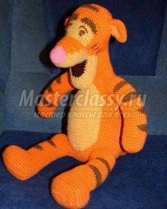 мягкая игрушка тигра вязание крючком детских игрушек своими руками