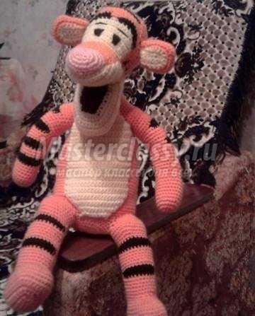 Мягкая игрушка Тигра. Вязание крючком детских игрушек своими руками